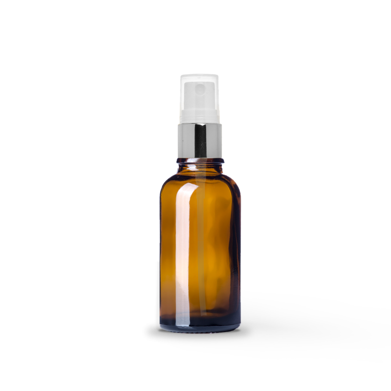 30ml Gümüş Sprey Başlıklı Amber Cam Şişe