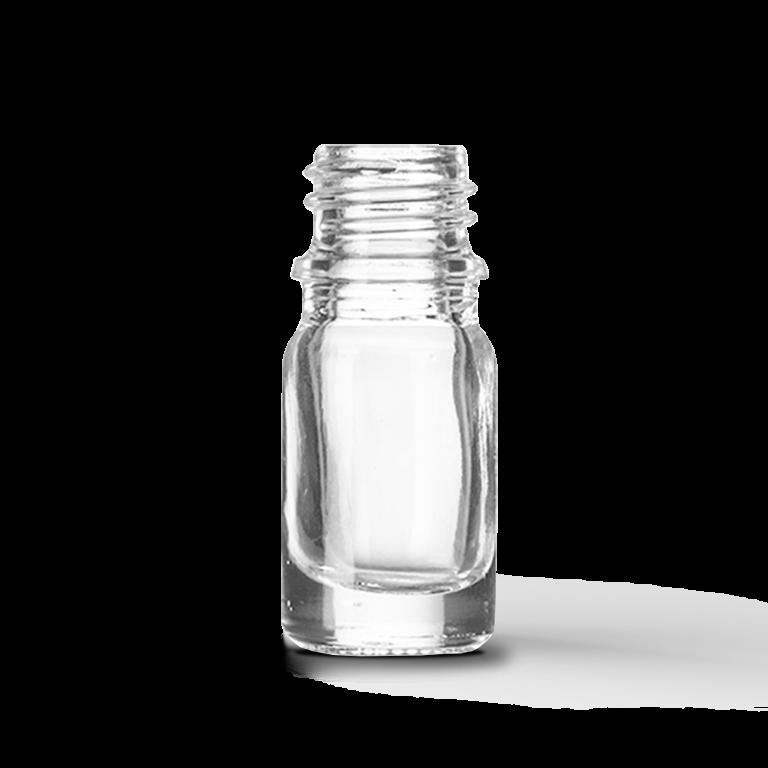 5ml Saydam Cam Şişe (18-DIN ağız çapı)