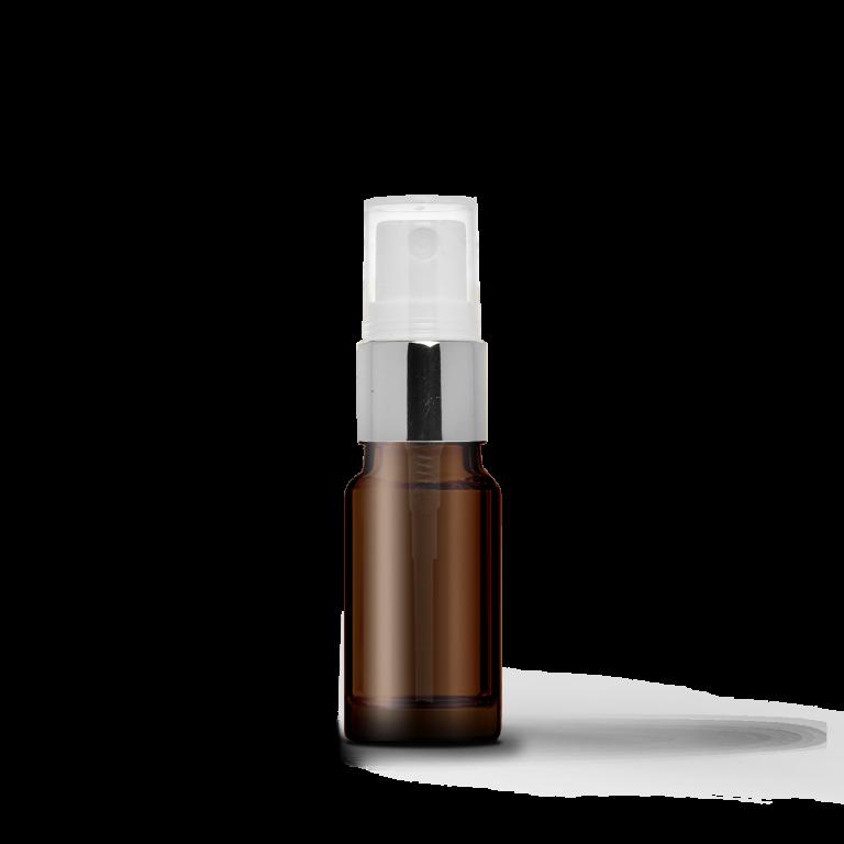 10ml Gümüş Sprey Başlıklı Amber Cam Şişe (10 Adet)