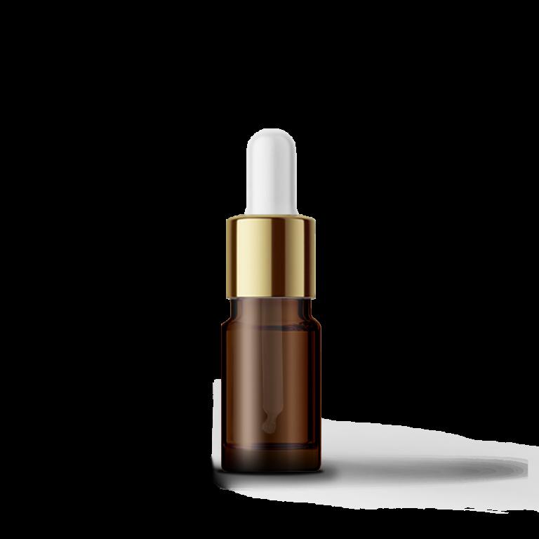 5ml Gold-Beyaz Cam Damlalıklı Amber Cam Şişe (10 adet)