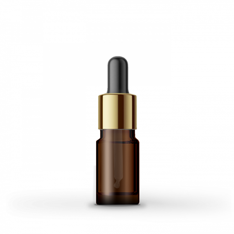 5ml Gold-Siyah Cam Damlalıklı Amber Cam Şişe (10 Adet)
