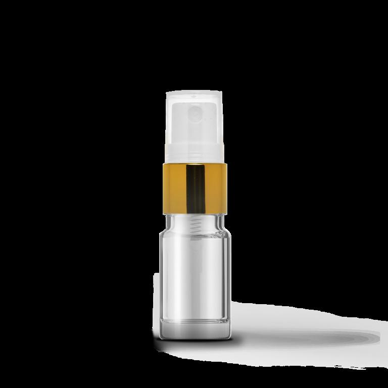 5ml Gold Sprey Başlıklı Şeffaf Cam Şişe (10 Adet)